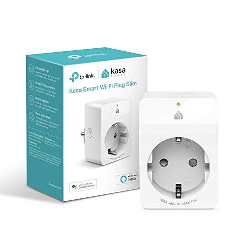 TP-Link Kasa Smart Wifi Plug | Diseño compacto | No se requiere Hub | Compatible con Google Home / Amazon Alexa | Control remoto | 16A 3680W (KP105), Blanco | Certificado para Personas