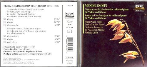 Concerto in d-moll für Violine, Klavier und Streicher / Sonata in F-dur für Violine und Klavier