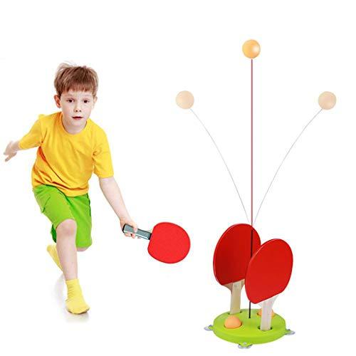 SXFYMWY Robot Table Tennis Trainer Raquetas Eje Flexible Juego de máquina de Entrenamiento de Pelota de Ping Pong Accesorios para niños Adultos Regalos