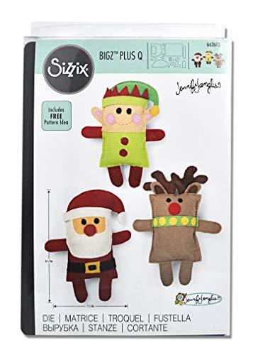 Sizzix Bigz Plus Q - Troquel, diseño de Papá Noel, elfo y reno