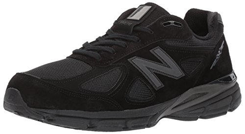 New Balance Men's 990v4 Running Shoe, Black/Grey, 10.5 D US