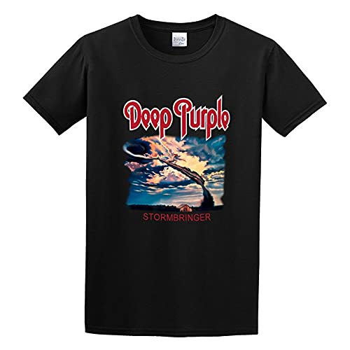 Deep Purple Stormbringer Black Hard Rock Coverdale Rainbow Blackmore T-Shirt Graphic Tee for Men Shirt Black M