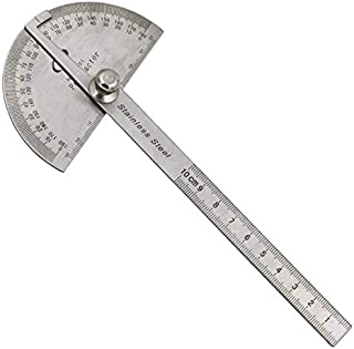 SDFSX 0-360 Degree 2in 1 Stainless Steel Digital Display Angle Protractor Woodworking Tool Angle Measuring Instrument