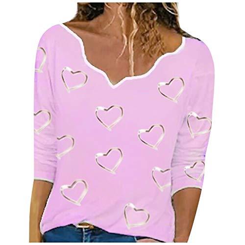 Beste Freunde Pullover Damen Kapuzenpullover Sweatshirt Herbst Winter Langarm für Frauen mit Motiv Herzdruck Asymmetrischer Hals Pullover Langarm T-Shirt Top Bluse Hemd