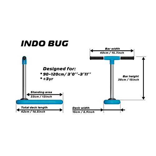 indo Bug Trampolin Scooter 2021 Blue, 400mm - 6