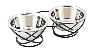 Buddy's Line Spring Style Double Diner Pet Bowl