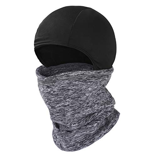 Cold Weather Face Mask, Balaclava Ski Mask for Skiing, Snowboarding & Motorcycle Riding, Winter Hats for Men (Grey)