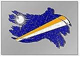 Grunge Marshallinseln Flagge, Marshallinseln, mit Schatten-Illustration, Kühlschrankmagnet