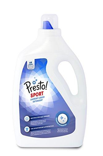 Amazon-Marke: Presto! Vollwaschmittel Sport, 176 Waschgänge (4 Pack , 44 Waschladungen)