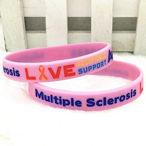 Múltiples Alertas De Esclerosis Múltiple Pulsera De Pulsera De Silicona (Color : Pink)