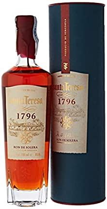 Santa Teresa Ron Oscuro Premium 1796 Añejado con El Método de Solera, 700ml