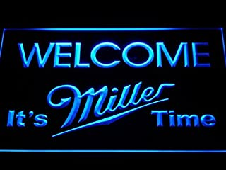 It's Miller Time Welcome Bar LED Neon Light Sign Man Cave A206-B by LEaD Sign