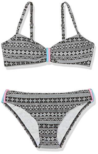 Sanetta Mädchen Bikini Padded Badebekleidungsset, Schwarz (Super Black 10015), 140