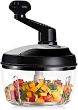 KEOUKE Vegetable Food Chopper Cutter-Heavy Duty Chopper (7 Cups) Hand Crank Processor Chops Onion,Nuts,Fruits,Chilli with Egg White Separator