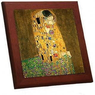 クリムト『 The Kiss(接吻)』の木枠付きフォトタイル(世界の名画シリーズ)