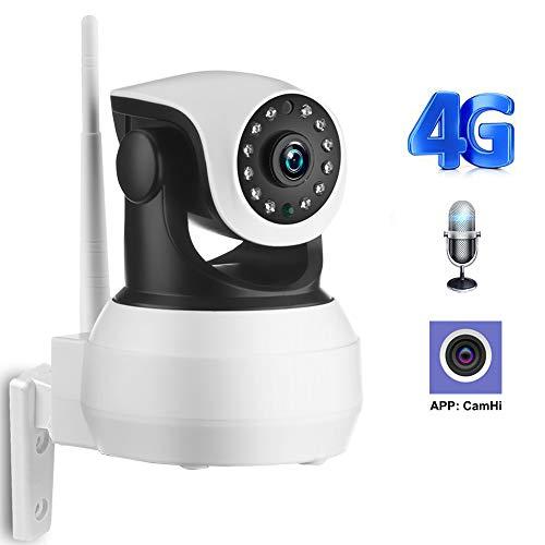 WXGZS WiFi Kamera, WiFi Kamera 4G 3G-Karte 1080P 720P HD Network Video Drahtlose IP-Kamera-Sicherheits-Baby-Überwachungskamera APP Kontrolle,4g 720p 32g Card