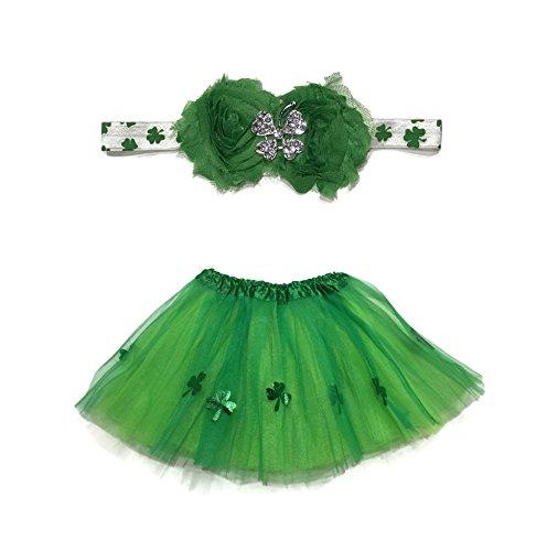 Rush Dance Ballerina Girls Dress-Up Kelly Green St Patrick's Day Tutu & Headband