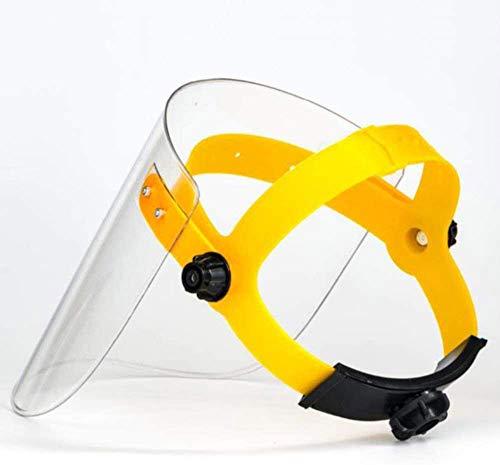 MIAOXIAO Protezione da Viso Cappuccio, Protettivo Berretto Trasparente per Saldatura, Maschera Protettiva Montata sulla Testa in Plexiglass-Colore Trasparent