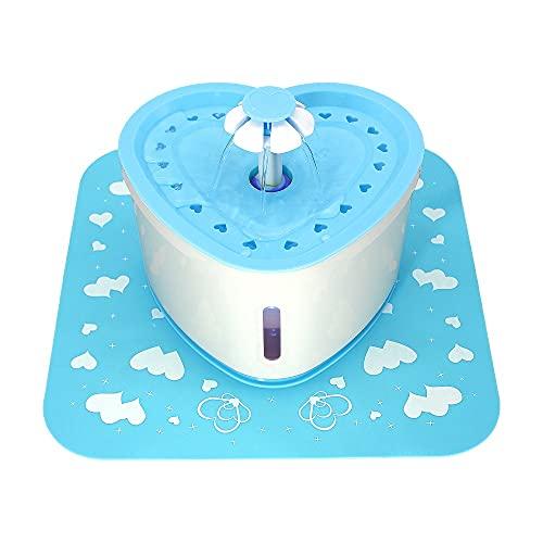LEPSJGC Fuente de Agua automática para Gatos de 2L, comedero para Beber para Gatos, Cuenco para Perros, Gatos, dispensador de Agua para Mascotas (Color : B)