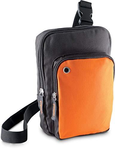 Kimood SAC BANDOULIÈRE - Dark Grey/Orange, One Size, Unisexe