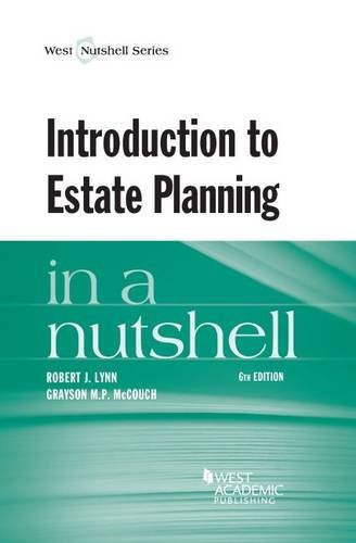Introduction to Estate Planning in a Nutshell (Nutshells)