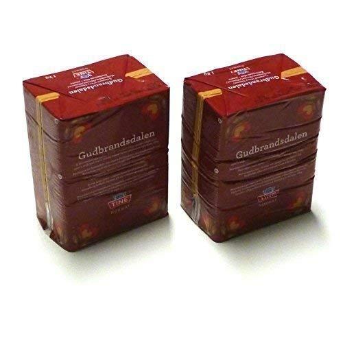 Gudbrandsdalen Queso 2 veces 1 kg Gudbrandsdals del este Geitost Queso de suero Brunost Geitost Gjetost Queso caramelo 🔥