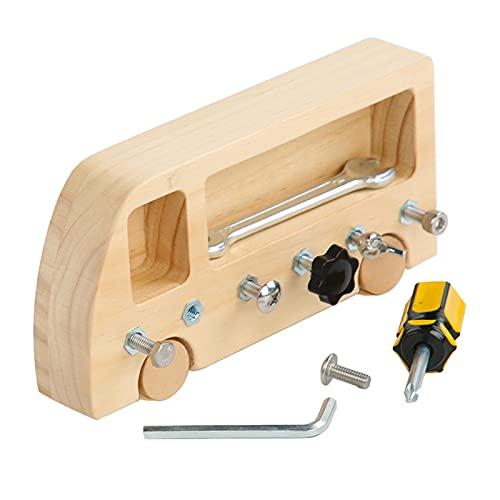 Richolyn Werkzeugkasten Werkbank Holz Werkzeugkoffer Werkzeug Spielzeug Bausteine Holz Montessori Wooden Toys Educational Toy Lernspielzeug Werkbank Spielzeug Motorische Spiele Für Kinder