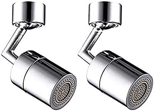 Ghlevo 2 Paquetes Aeroador de Grifo, 720 Filtro de rotación Filtro Fraucet Fregadero Movible Tap Cabeza Ahorro de Agua Filtro Giratorio
