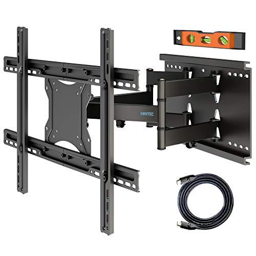 BONTEC Soporte de TV en Pared Inclinación y Giro para Televisores de 37-80 Pulgadas LCD/LED Movimiento Comlpeto - Brazo Doble Ultra Fuerte - Carga Máx. 65kg, Máx VESA 600x400 mm