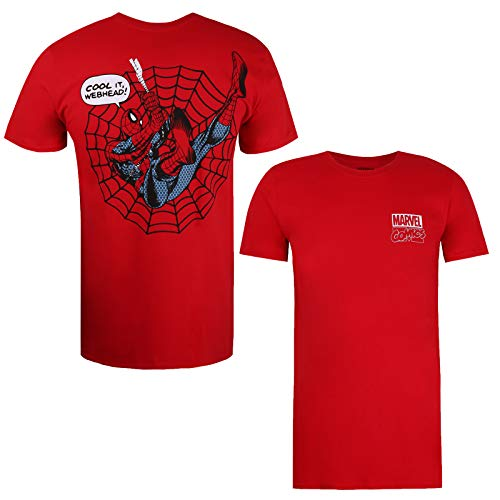 Marvel Spiderman Cool It Camiseta, Cherry Red, X-Large para