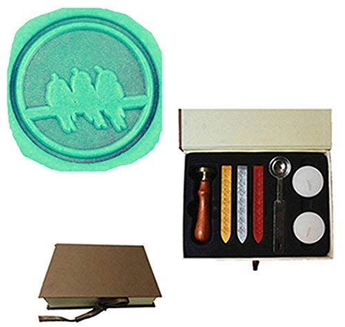 MDLG Vintage Drie Vogels Zingen Aangepaste Foto Logo Bruiloft Uitnodiging Wax Seal Sealing Stamp Set Kit Box Kit
