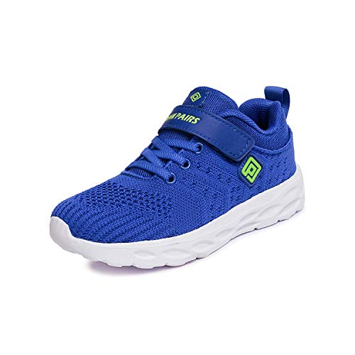 DREAM PAIRS Boys KD18001K Lightweight Breathable Running Athletic Sneakers Shoes Royal Blue Green, Size 4 M US Big Kid