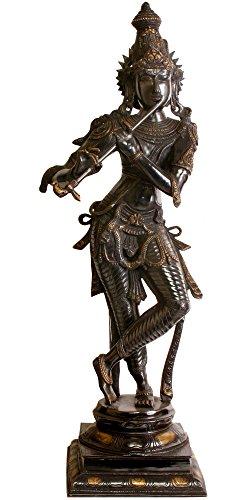 Exotic India Pourquoi est Seigneur Krishna Noir ? – Laiton Sculpture
