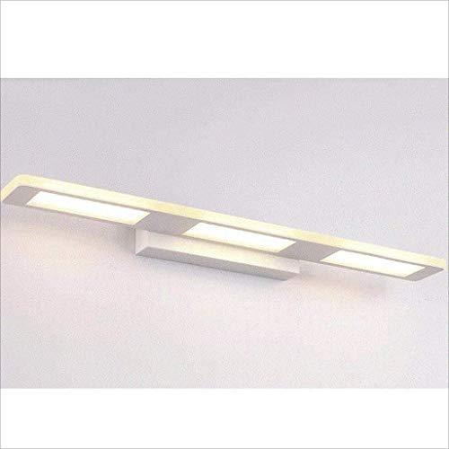 MKJ001 Familiemode, eenvoudig, badkamer, LED, spiegel, waterdicht, sober, wandlamp, kaptafel, spiegel, lamp, warmwit, 18 W55 cm