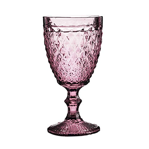 LHAXL Copas de Vino 300ml Vintage Cristal Vino Vino Champagne flauts Taza Gafas Boda Partido barbellets Cocina Jugo Bebida Taza Copa de Vino (Capacity : 240ml, Color : Red Diamond)
