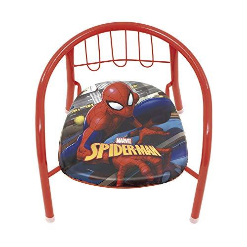 ARDITEX SM11590 Silla de Metal de 35.5x30x33.5cm de Marvel-Spiderman