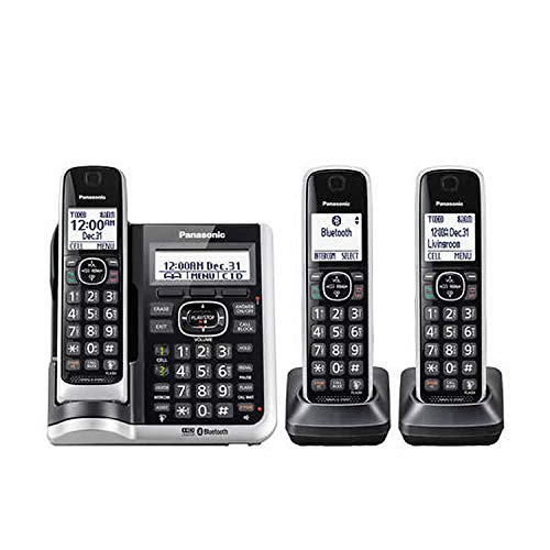 Panasonic KX-TGF673B (3 Handset) Cordless Phone with Answering System Link2Cell DECT 6.0 Technology - Base KX-TG885SK, H-S KX-TGFA61B (Renewed)