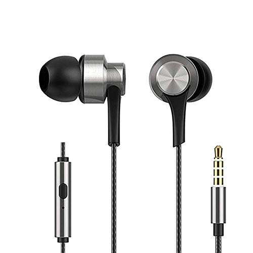 HiFuture J3 Metal Gaming Earphones with Noise Cancelling Microphone, Deep Bass with Hi-Fi Stereo Sound for Mobile Phones, Tablets, Laptop, PS4, Xbox and Nintendo Switch (Silver)