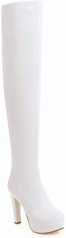 XDX Damen Stiefel - High Heel Stiefel Lange Rhre Winter Plus SAMT Warme Reiverschluss Damen Stiefel Groe Damen Stiefel 35-43