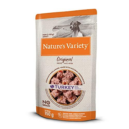 Nature's Variety Original No Grain - Paté para Perros Adultos Mini con Pavo - Caja 8 x 150 g