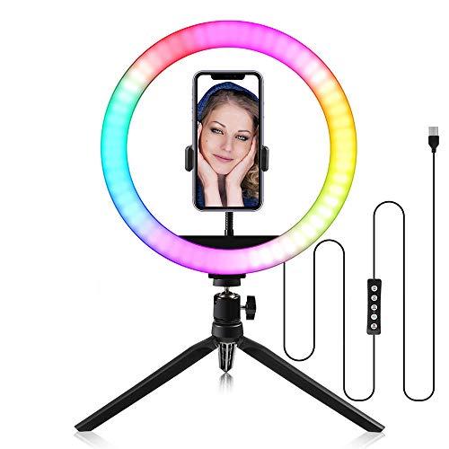 KNMY Anillo de luz, Luz de Anillo LED 10 Pulgadas Fotográfi