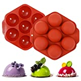 """【Size】: 9.5"""" x 9.6"""" x 1.4"""" and the diameter of each cavity is 2.7"""", 7 Holes Silicone Mold. 【Material】:made of harmless BPA-free and 100% Food-grade silicone baking tray mold. 【Temperature range】:From -40 ℉ to 466 ℉ degree(-40℃ to 230℃); tasteless, sa..."""