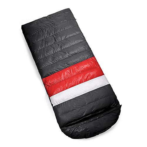 HPPSLT Sac de Couchage Adulte randonnée et activités de Plein air, Sac de Couchage en Duvet Portable Chaud de Type enveloppe - Velours 1500G-2