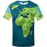 chenaa T-Shirt Carte du Monde, Manches Courtes, imprimé Hommes Couleur XXXL,Hommes...