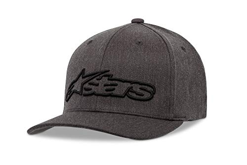 Alpinestar Blaze Flexfit Hat Gorra Flexfit Visera Curva Logo Bordado 3D, Hombre, dk Heather Gray/Black, S/M