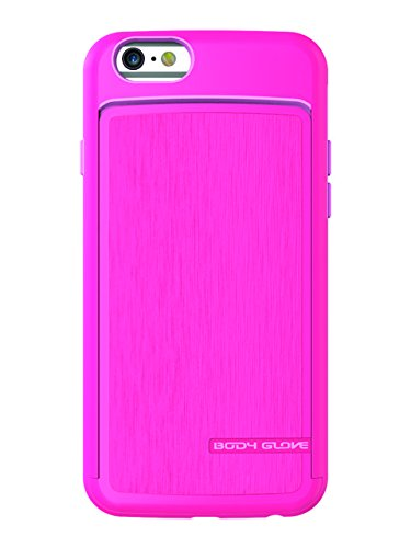 Body Glove Satin Wallet Cell Phone Case for Apple iPhone 6/6s, Dark Pink