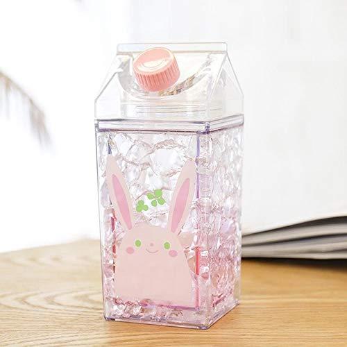 Kettle Milk Coffee Cup 400ml Carton de Leche Botella de Bebida para Estudiantes de Viajes Deportivos - Vaca, 400ml
