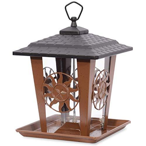 Perky-Pet Vogelfutterhäuschen Sonne- und Sterne / Vogelfutterspender aus Metall zum Hängen oder Stangenmontage / Füllkapazität 1,4 kg / Mod. 370