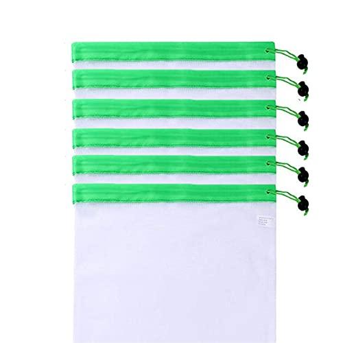 Shopping Bags Bolsas de productos de malla reutilizables Fruta Vegetal Compras de juguete Almacenamiento Lavado Lavado Bolsas Lavable Lavable Transpirable Servida para Fruta, Vegetal, Juguetes, Compra
