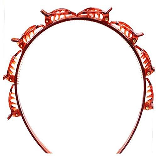 ZENING Clip de banda para el pelo Flequillos fijo artefacto pequeño clip de maquillaje paquete de pelo multicapa hueco diadema horquilla, artefacto perezoso para niñas